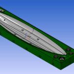 Demi Moule de Coque pour thermoformage kayak (4000x1000x400)